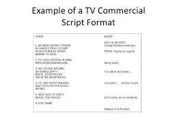 tv commercial script template adv copy writing