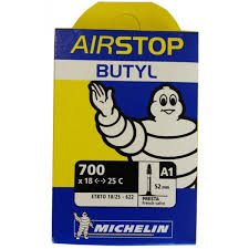 chambre air velo chambre à air vélo route michelin airstop butyl 700x18 25