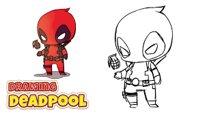 easy adorable graffiti art sketches how to draw deadpool chibi
