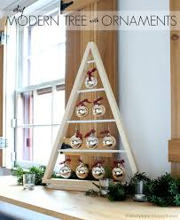 bake craft sew decorate diy modern tree with ornaments
