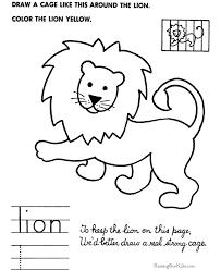 simple drawings kids draw lion draw
