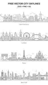Map Italy Silhouettes Italian Cities by City Skyline Silhouette For Visual Practice Packing