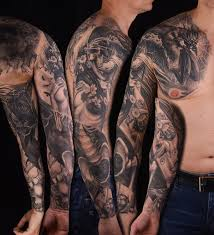 best death tattoo on sleeve in 2017 real photo pictures images