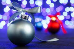 blue background white christmas lights stock photo image 40879685