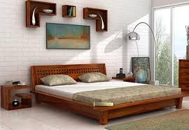 Size Double Bed Queen Size Beds Buy Wooden Queen Bed Online At Upto 65 Off