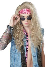 Mens 80s Halloween Costumes Men U0027s Blonde 80 U0027s Rocker Wig