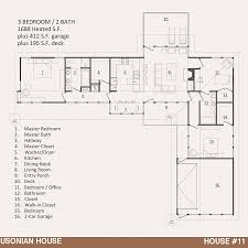 Architectural Plans For Houses House 11 U2013 The Usonian House Jody Brown Architecture Pllc