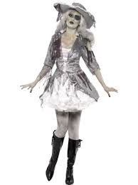 mens ladies pirate ghost ship zombie sailor halloween fancy