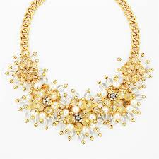 pearl bib statement necklace images Pearl burst necklace pearl bead cluster statement necklace by jpg