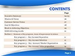 key account marketing improvement