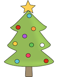 tree with colorful ornaments clip tree