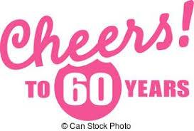 60 year birthday card clipart vector of 60 years birthday card vector elements