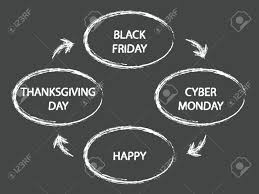 happy america thanksgiving day black friday cyber