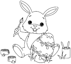 clipart images of the easter bunnies coloring collection
