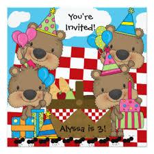 teddy bear picnic invitations u0026 announcements zazzle canada