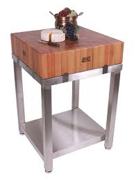 furniture round cherry boos butcher block with stainless steel