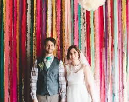 tissue paper streamers crepe paper streamer backdrop diy wedding decor