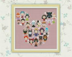 disney cross stitch etsy