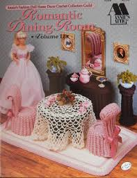 annies fashion doll crochet pattern romantic dining room no 2 for