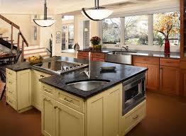 contrasting kitchen island gallery custom wood products