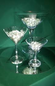 Large Martini Glass Centerpieces by Centerpieces