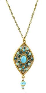 Blue And Gr by Michal Golan Atlantis Gold Plated Diamond Drop Earrings In Blue