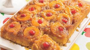peachy pineapple upside down cake recipe bettycrocker com