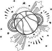 clipart of basketball sketch k10373983 search clip art