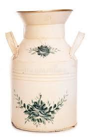 shabby chic milk churn vase stock photo image 51364766