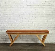 Wooden Bench With Cushion Custom Furniture For Fashionistas Steven Alan Bench And Custom