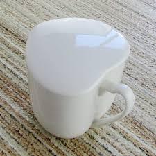 heart shaped mug heart shaped mug cup with lid glass ceramic heart 350ml mug