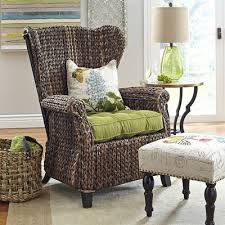 graciosa mocha brown wicker wing chair pier 1 imports