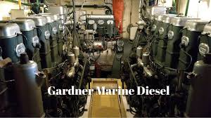 gardner marine diesel mirrored pair of 6l3b and 3lw auxiliary