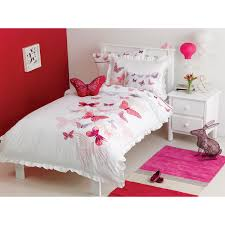 Butterfly Bedding Twin by Maholi Fly Butterfly Collection 200 Thread Count Polyester Cotton