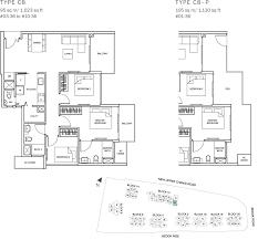 Sqm To Sqft by The Glades Condo Floor Plan U2013 3br Suite U2013 C8 U2013 95 Sqm 1023 Sqft