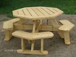 Picnic Table Plans Free Large by Best 25 Octagon Picnic Table Ideas On Pinterest Picnic Table