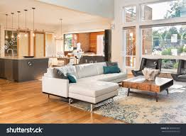 Beautiful Open Floor Plans Royalty Free Beautiful Living Room Interior In New U2026 360591503