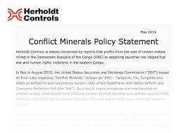 conflict minerals reporting template herholdt controls conflict minerals policy statement