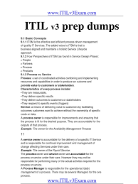 2011 itil v3 foundation prep dumps business process