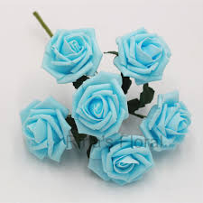 light blue flowers baby blue artificial flowers foam roses light blue flowers for