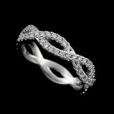 infinity wedding band diamond 14k white gold infinity intertwining wedding band