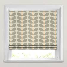 Roman Blinds Made To Measure Two Colour Stem Warm Grey Orla Kiely Roman Blinds Made To Measure