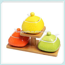 ceramic kitchen canister for oil vinegar peper salt sugar spice