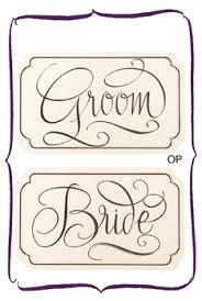 Bride And Groom Chair Signs Wedding Chair Signage Mr And Mrs Chair Signs Bride And Groom