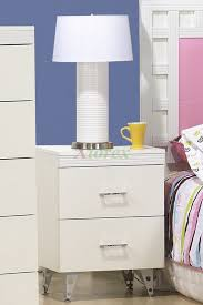 Small White Bedside Table Nightstand Simple Bedside Tables Steel Nightstand Dresser Small