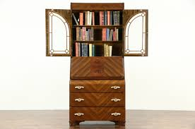 secretary desk with bookcase sold art deco waterfall design 1935 vintage secretary desk