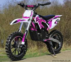 50cc motocross bike new xtreme 36v 500w xtm dirt bike in pink with lithium batteries