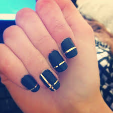 matte black nails with gold accents nails pinterest matte