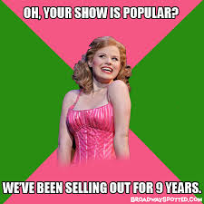 Wicked The Musical Memes - condescending galinda broadway memes pinterest wicked