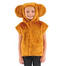 cute golden teddy bear fur tabard fancy dress for kids